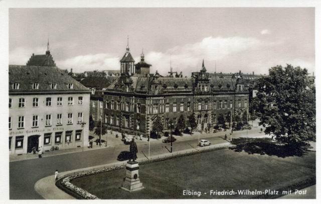 Elbing Friedrich Wilhelm Platz Mit Post Castles Of Poland